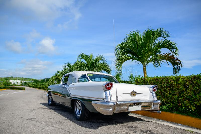 American retro cars in Cuba royalty free stock photo