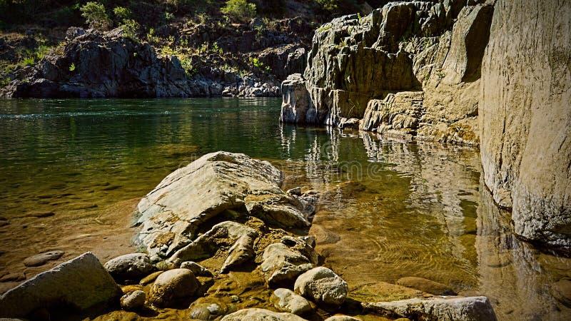 American river shore royalty free stock photo