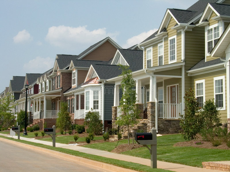 American row house royalty free stock images