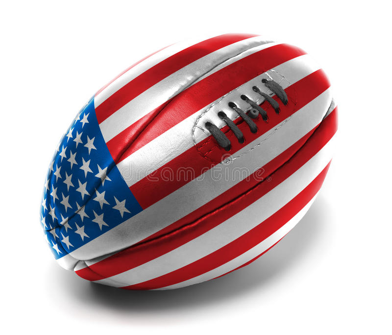 American rugby Ball stock image