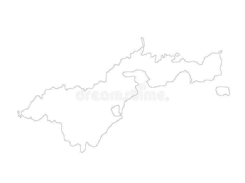 American Samoa översikt - unincorporated territorium av Förenta staterna som lokaliseras i det South Pacific havet som är sydostl royaltyfri illustrationer