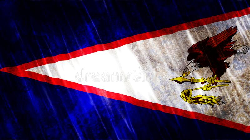 American Samoa Flag. For Print, Wallpaper Purposes, Size : 7680Width x 4320Height Pixels, 300 dpi, Jpg Format royalty free stock images