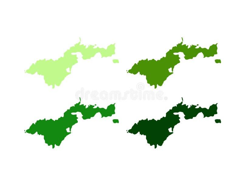 American Samoa ?versikt - unincorporated territorium av F?renta staterna som lokaliseras i det South Pacific havet som ?r sydostl royaltyfri illustrationer