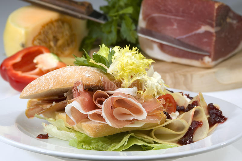 American sandwich stock photo