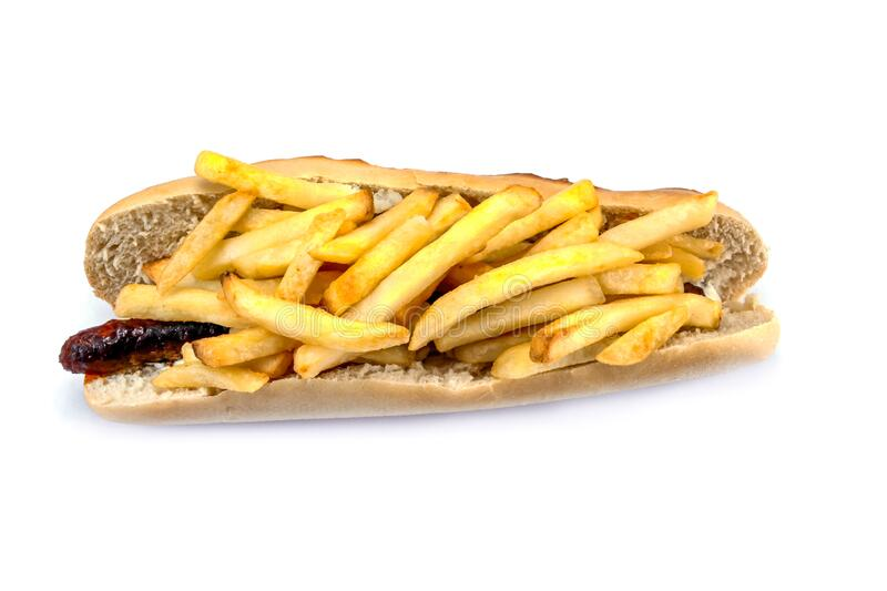 `American` sandwich from the north of France stock image