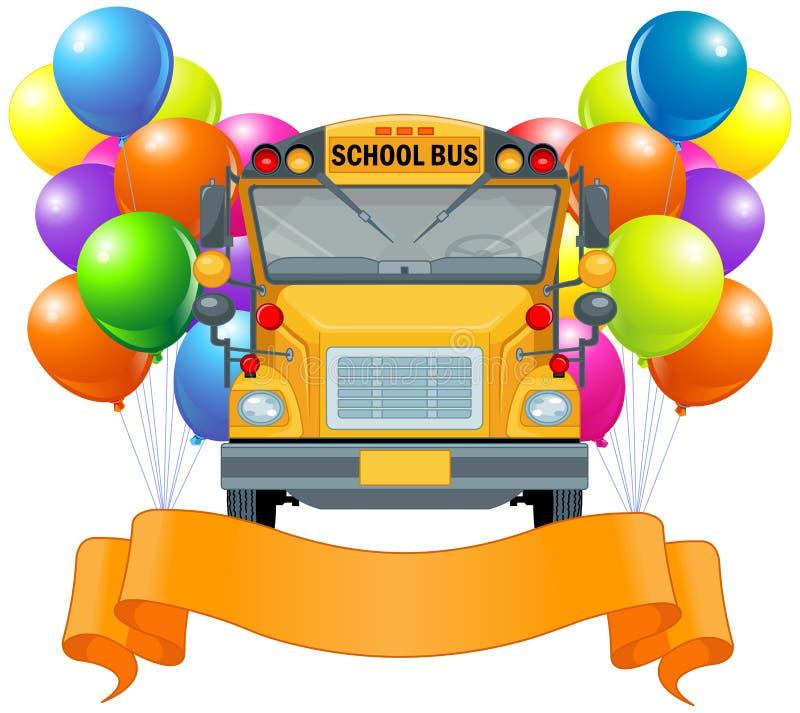 American school bus vector illustration