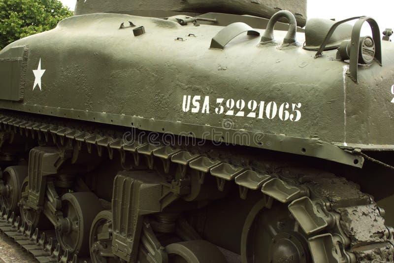 American Sherman Tank royalty free stock photo