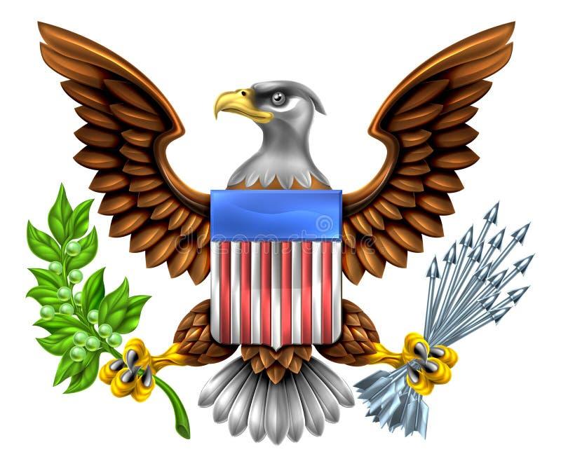 American Shield Eagle Design stock illustration
