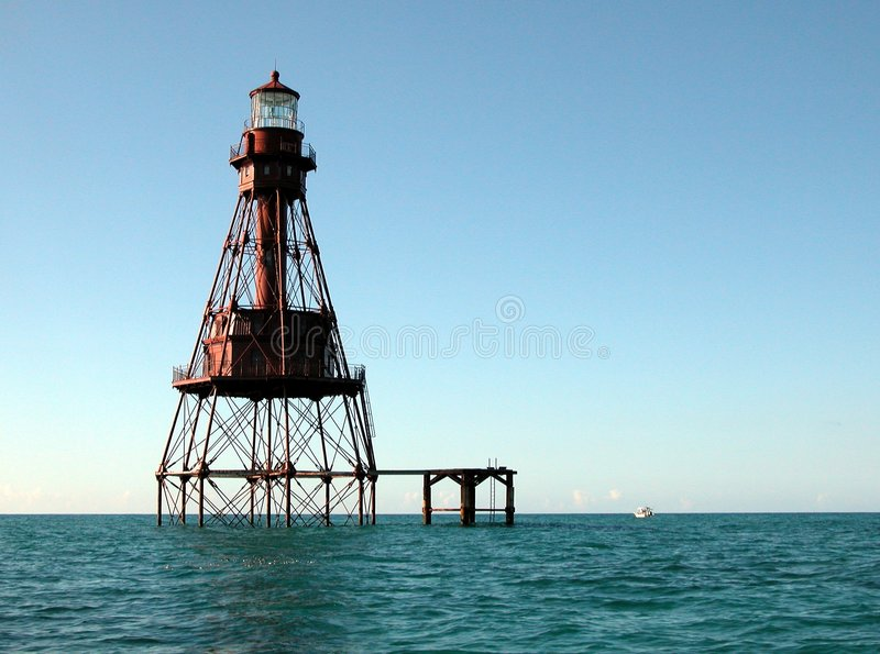 American Shoal Lighthouse stock image