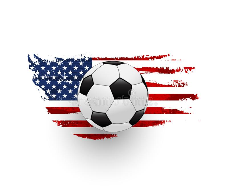 American soccer realistic vector illustration vector illustration