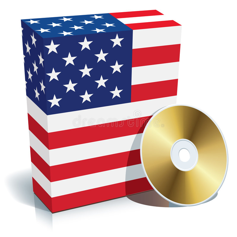 Download American Software Box And CD Stock Vector - Image: 7872956