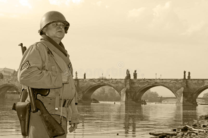 American Soldier stock photography