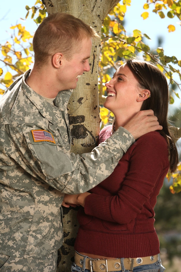 American Soldier stock image