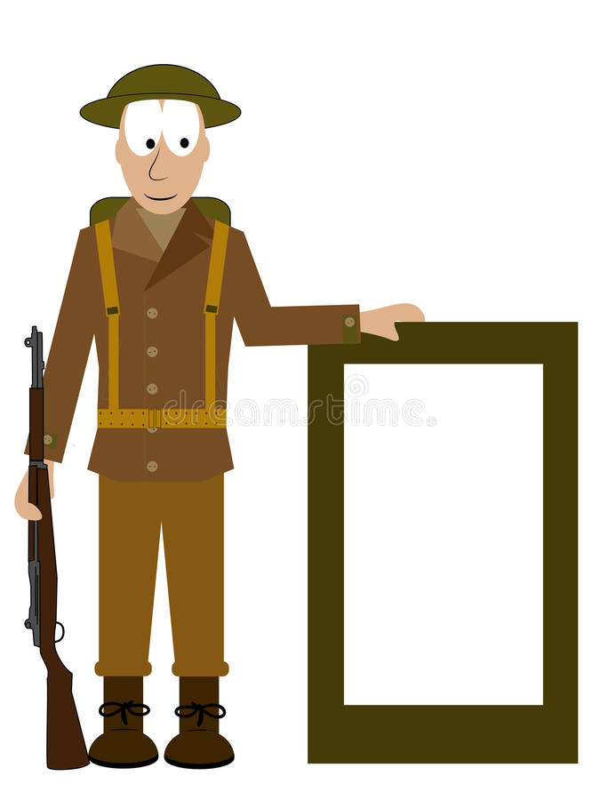 Download American Soldier Shows A Signs Stock Vector - Illustration of 1944, soldier: 36561049