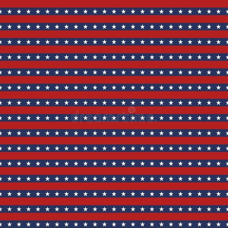 American flag star stripes seamless pattern background stock illustration
