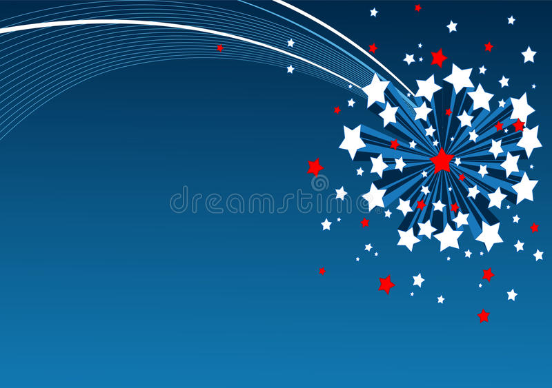 Download American Starburst Background Stock Vector - Image: 30495928