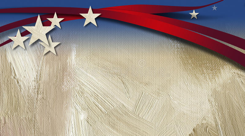 American Stars and Stripes Background stock illustration