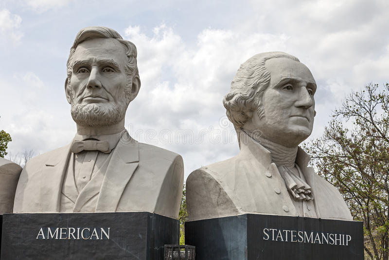 American Statesmanship Park in Houston, Texas royalty free stock photography