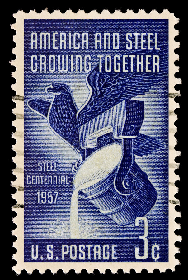 Download American And Steel Industry Issue Stock Photo - Image of postage, collecting: 8922916