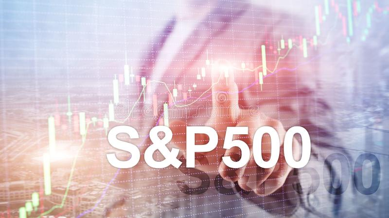 American stock market index S P 500 - SPX. Financial Trading Business concept. American stock market index S P 500 - SPX. Financial Trading Business concept royalty free stock images