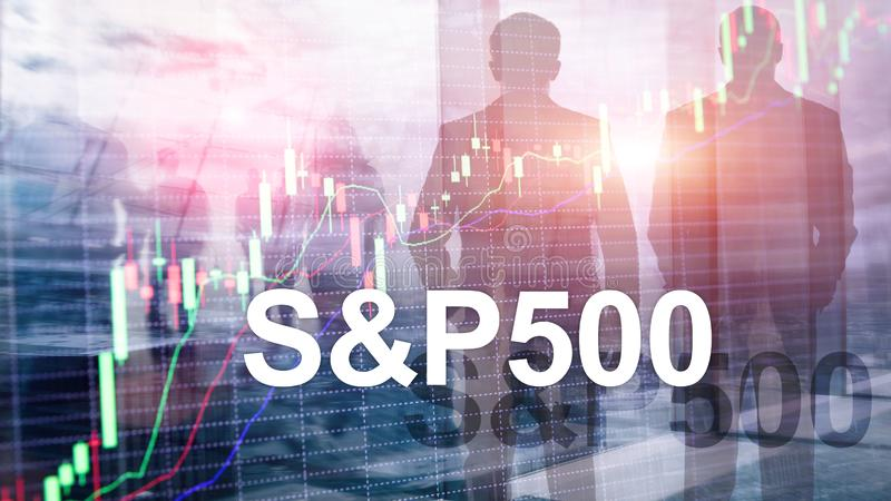 American stock market index S P 500 - SPX. Financial Trading Business concept.  stock photography