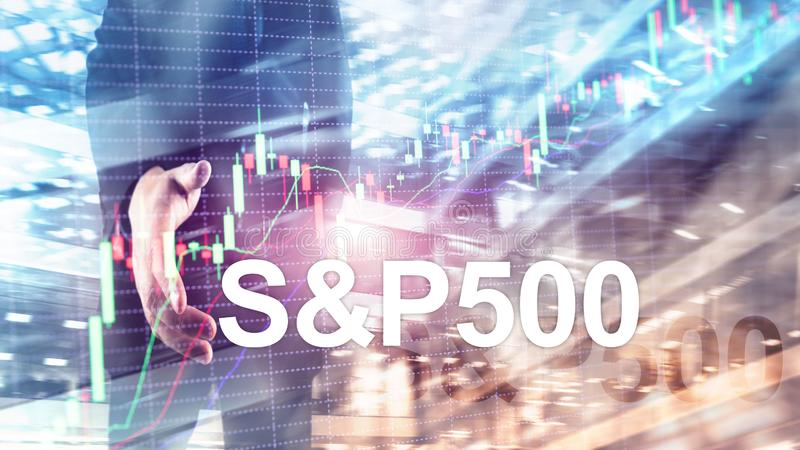 American stock market index S P 500 - SPX. Financial Trading Business concept. American stock market index S P 500 - SPX. Financial Trading Business concept stock photo