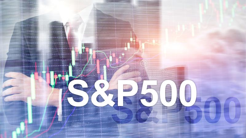 American stock market index S P 500 - SPX. Financial Trading Business concept.  stock image