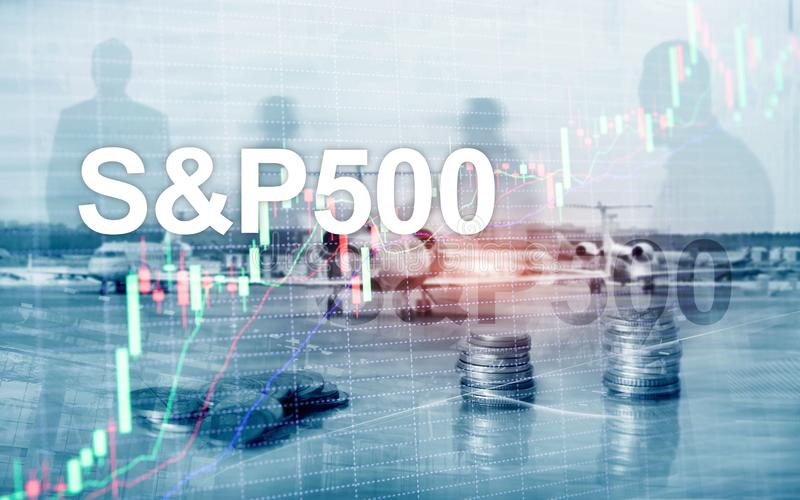 American stock market index S P 500 - SPX. Financial Trading Business concept.  royalty free stock photos