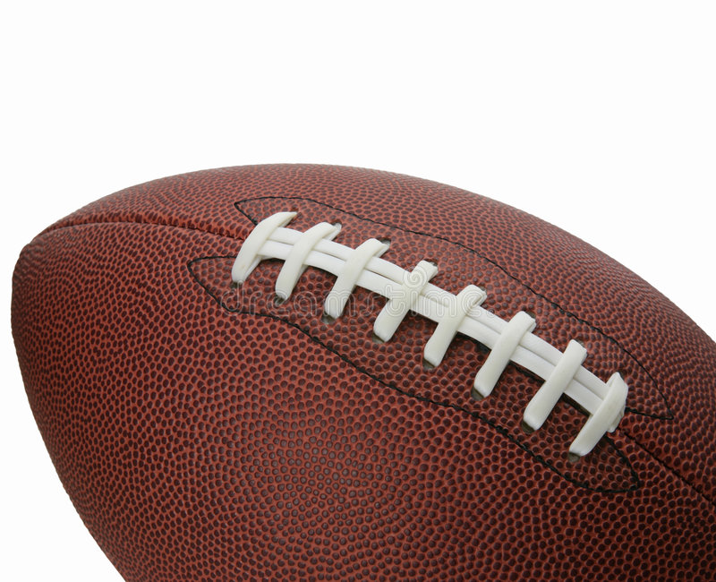 American Style Football, Laces Showing Royalty Free Stock Images