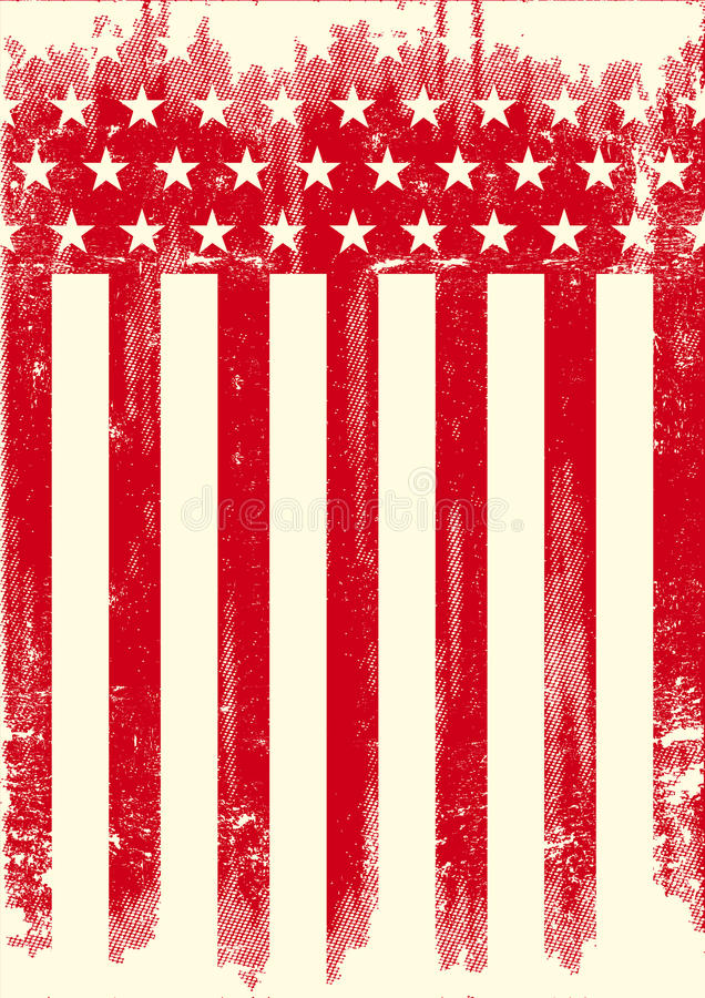 American Style red poster stock photos