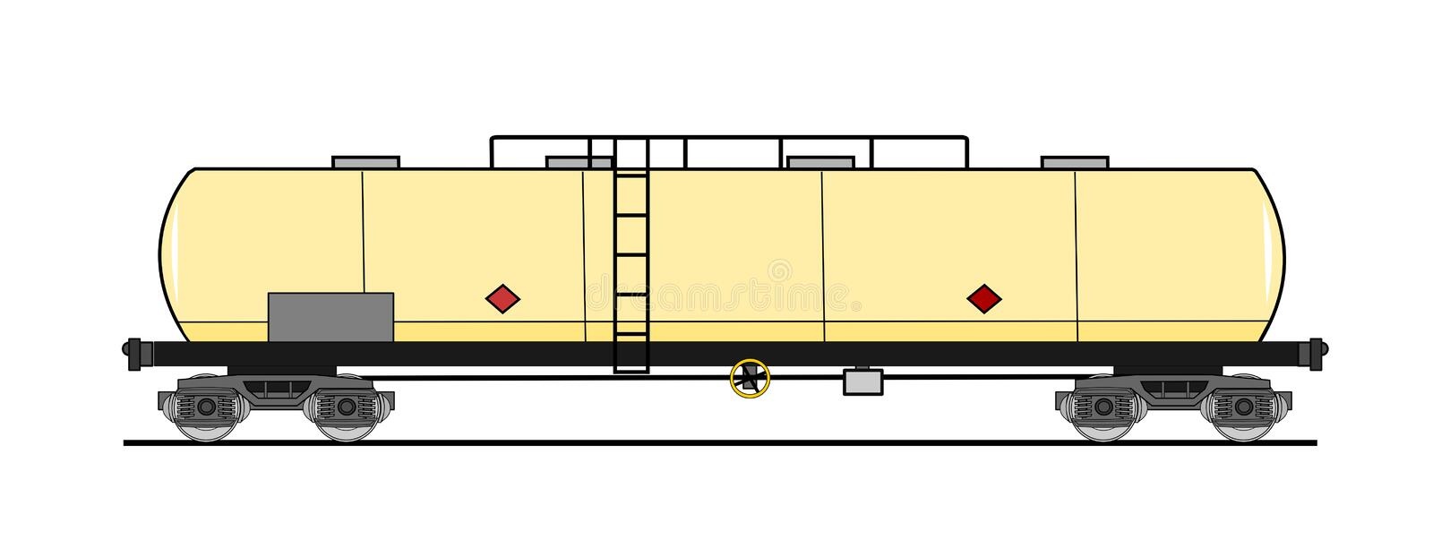 Download American style tank car stock vector. Image of petroleum - 24027807