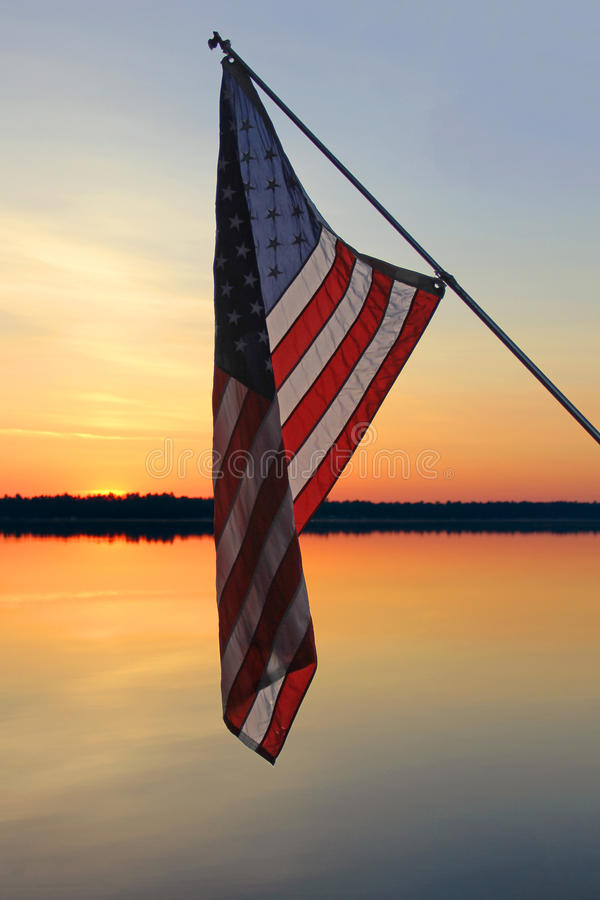 American Sunset. The beauty of an American summer royalty free stock photo