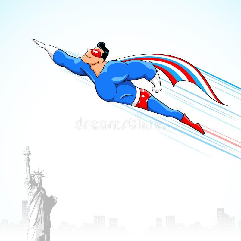 American Super Hero royalty free illustration