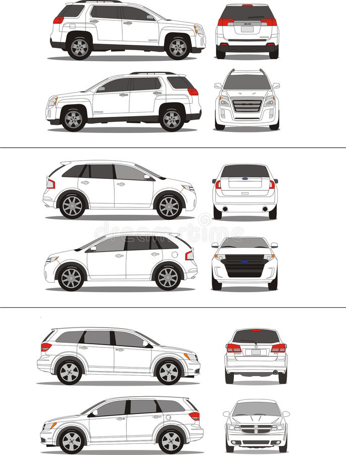Free American SUV Vehicle Outline Royalty Free Stock Photography - 17703147