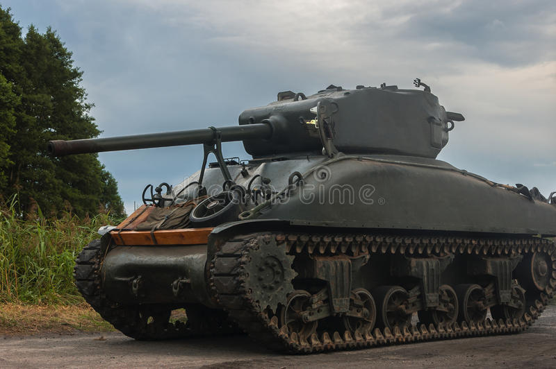 AMERICAN TANK OF WORLD WAR II royalty free stock photo