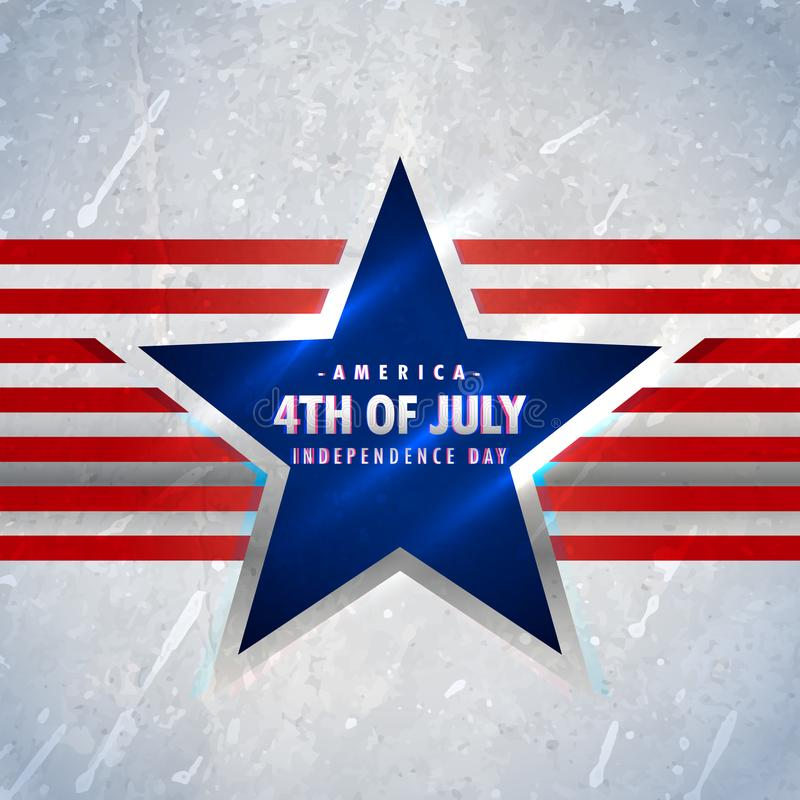 American 4th of july background. Vector stock illustration