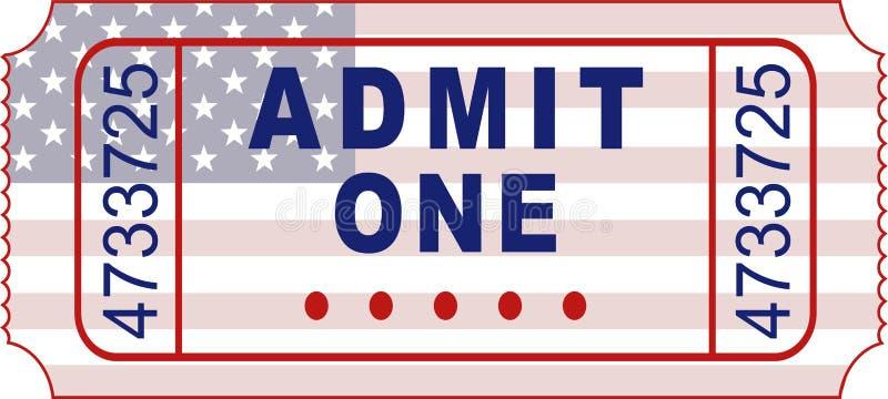 American ticket vector illustration