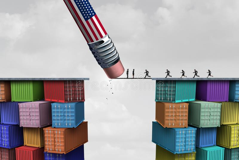 American Trade Sanctions vector illustration