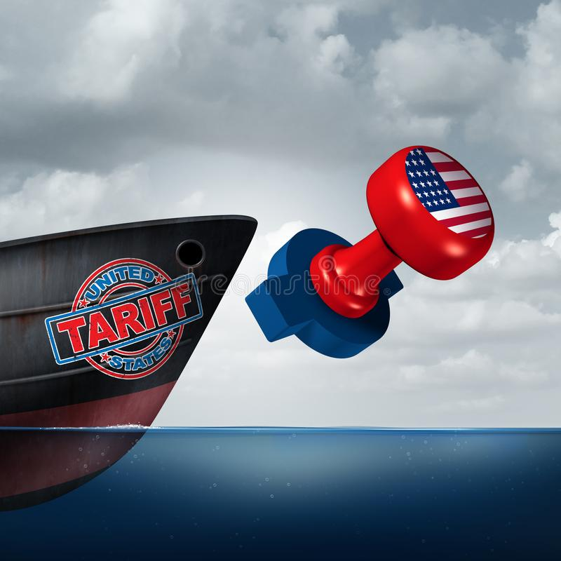 American Trade Tariff royalty free illustration
