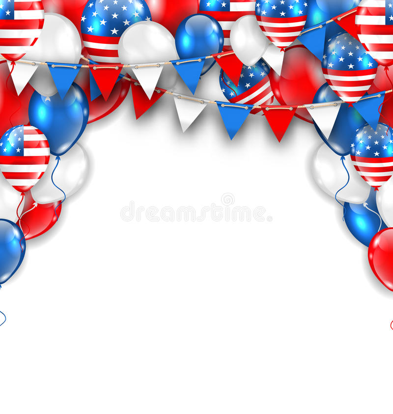 American Traditional Celebration Background for Holidays of USA vector illustration