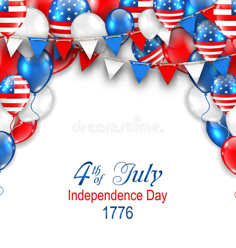 American Traditional Celebration Background for Independence Day vector illustration