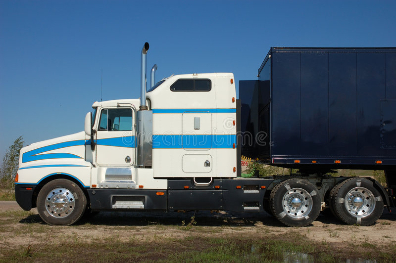 American Truck. An American Semi Trailer Truck royalty free stock photography