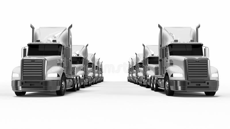 American Truck fleet royalty free illustration