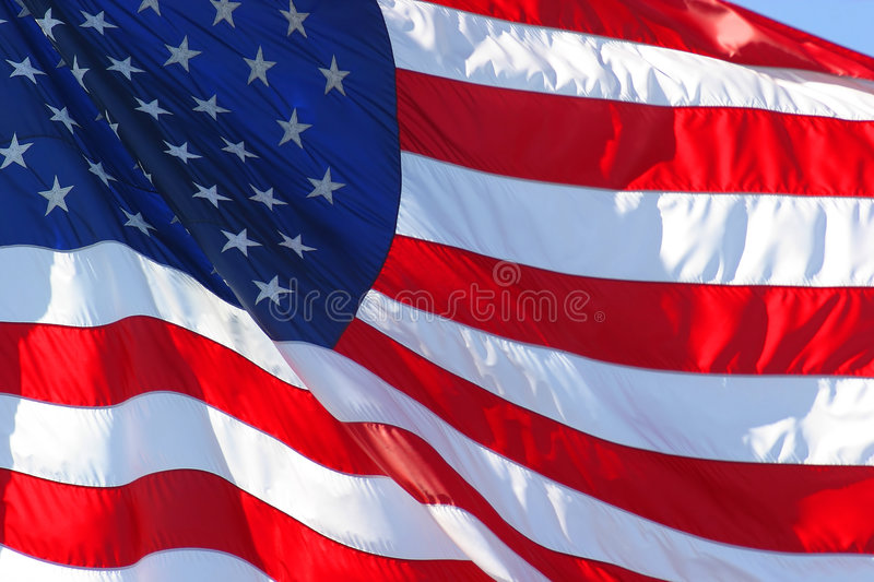 American or United States Flag. United States or American flag royalty free stock photography