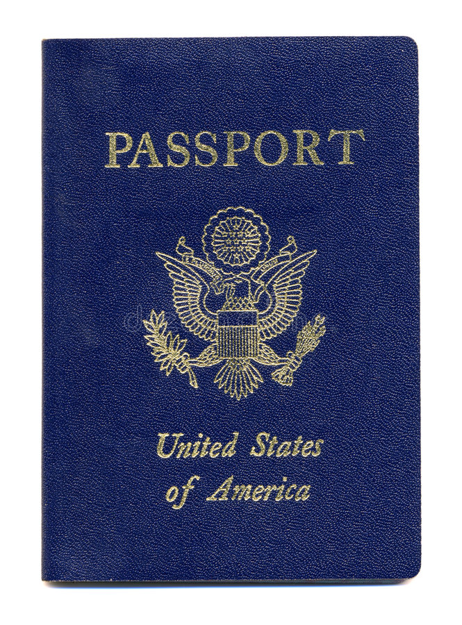American or United States Passport royalty free stock photography