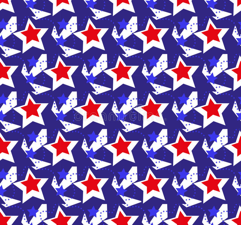 American USA flag seamless patterns. Independence Day, July 4 concept, repeating texture, endless background. Vector. Illustration royalty free illustration