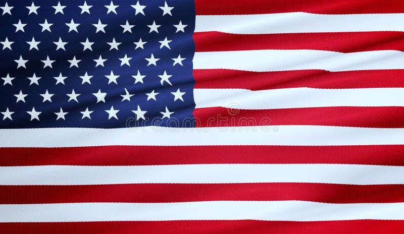 American USA flag, stars and stripes, united states of america. Closeup of american USA flag, stars and stripes, united states of america stock photography