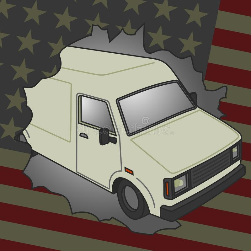Download American Van Royalty Free Stock Images - Image: 23531939