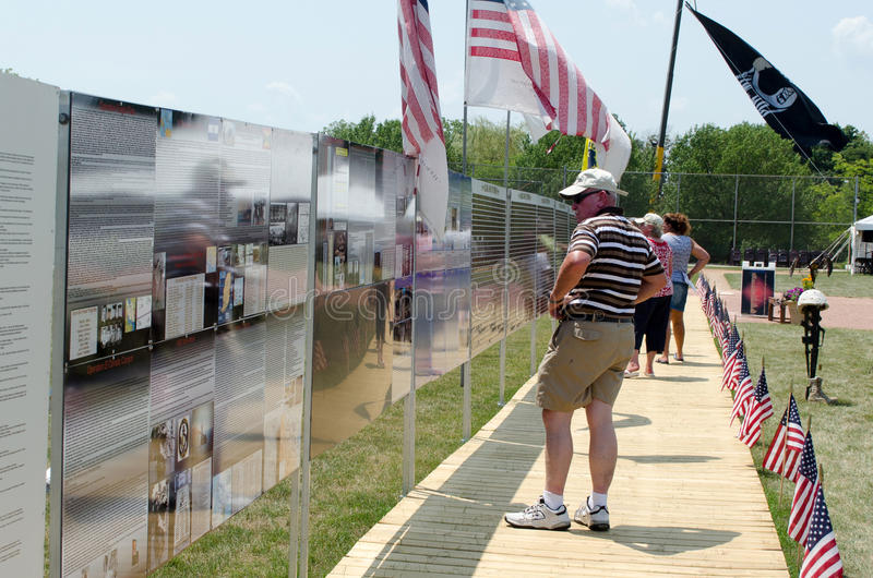 American Vet Traveling Wall Editorial Photo
