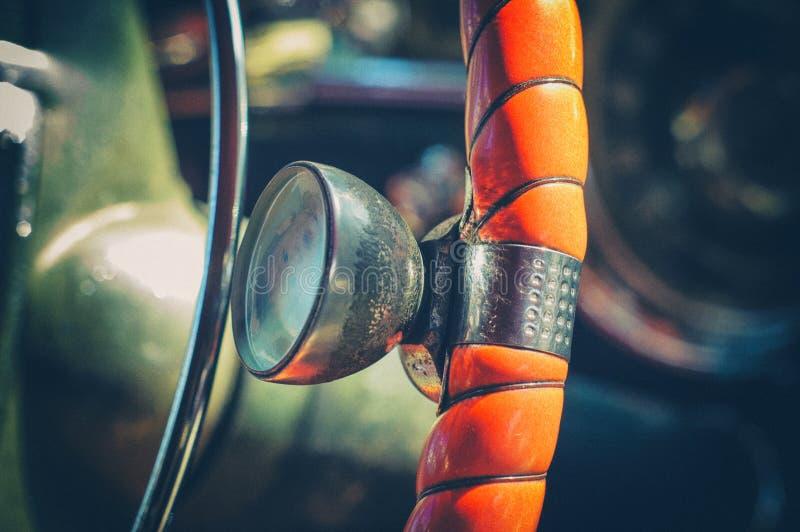 American vintage car interior detail royalty free stock photo